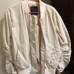 Lifted anchors off white bomber